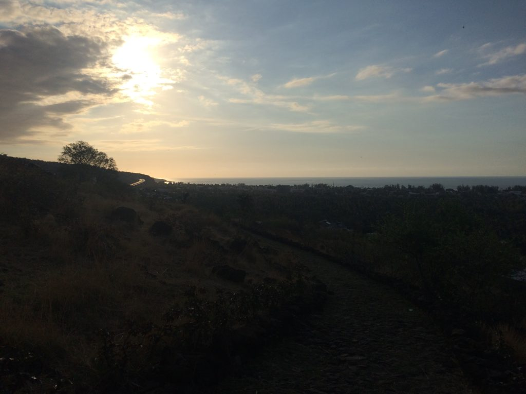 Couché de soleil depuis le chemin de Bellemène