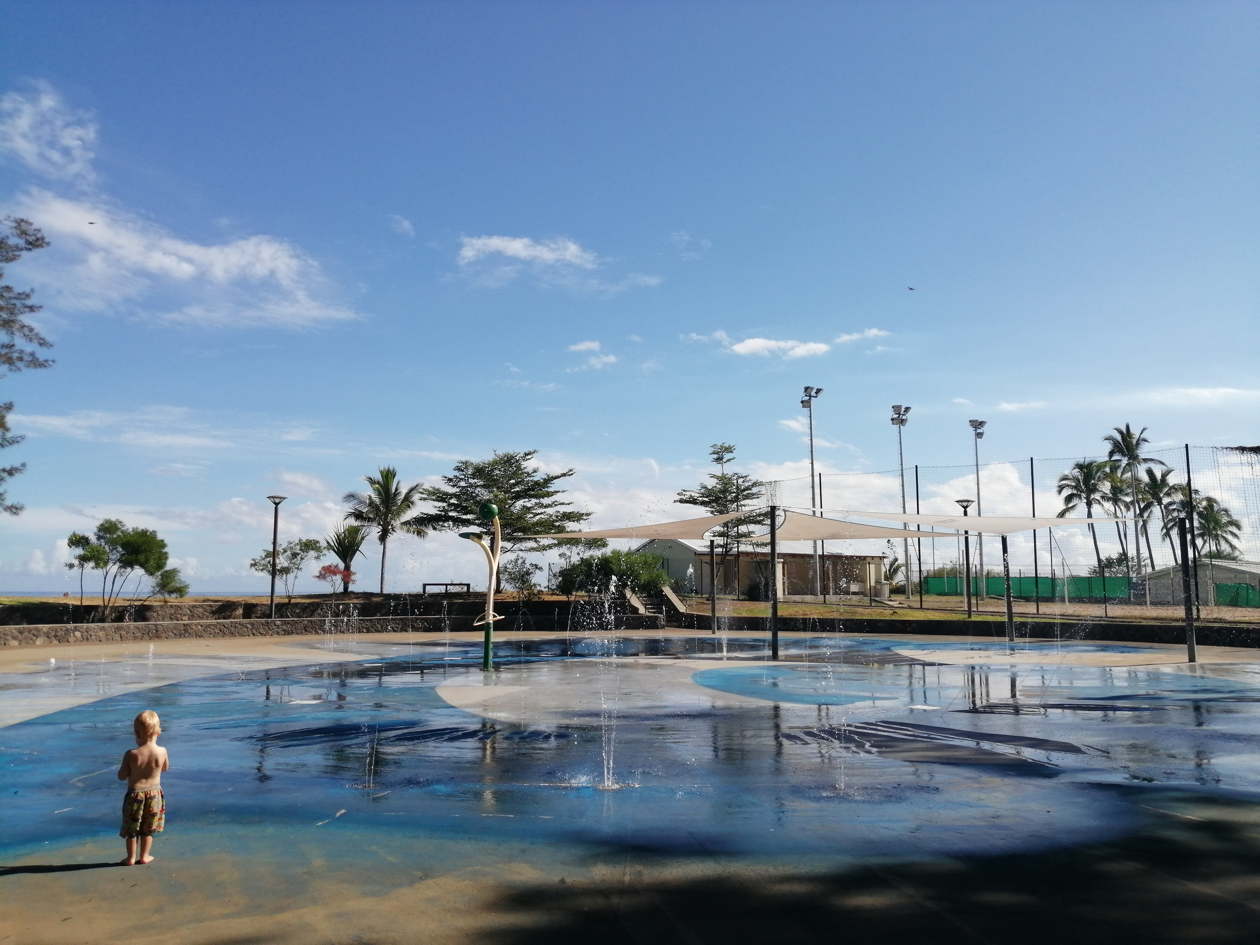 Jeux d'eau au front de mer de sait Paul à La Réunion