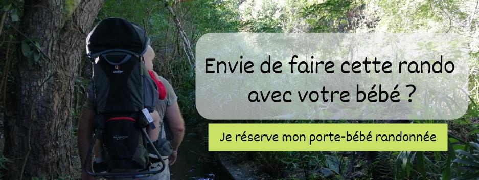 Louez votre porte bébé randonnée à la Réunion