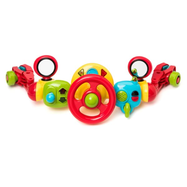 Funny walks with this steering wheel to attach to the baby stroller!