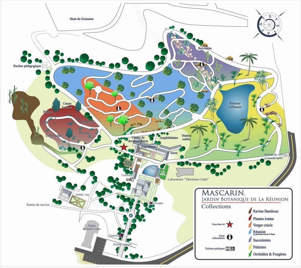 Carte Jardin Botanique de la Réunion
