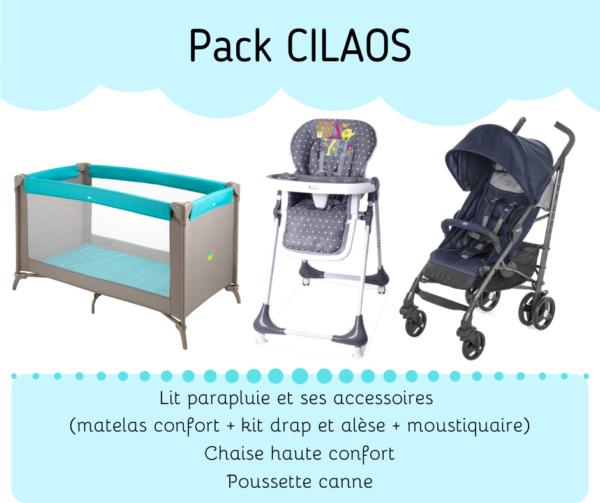 Location pack puériculture : lit, chaise haute et poussette