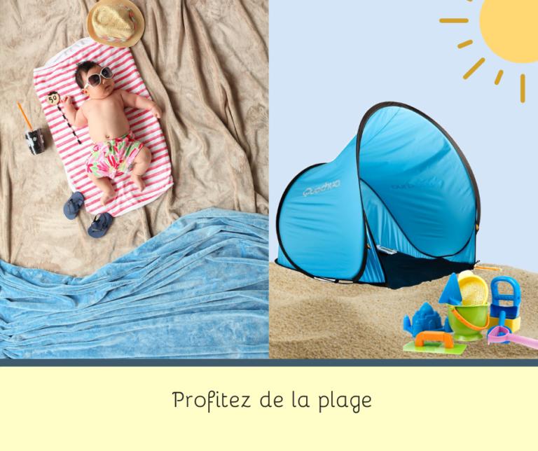 LILOBEBE Location à la Réunion de tente de plage pour bébé