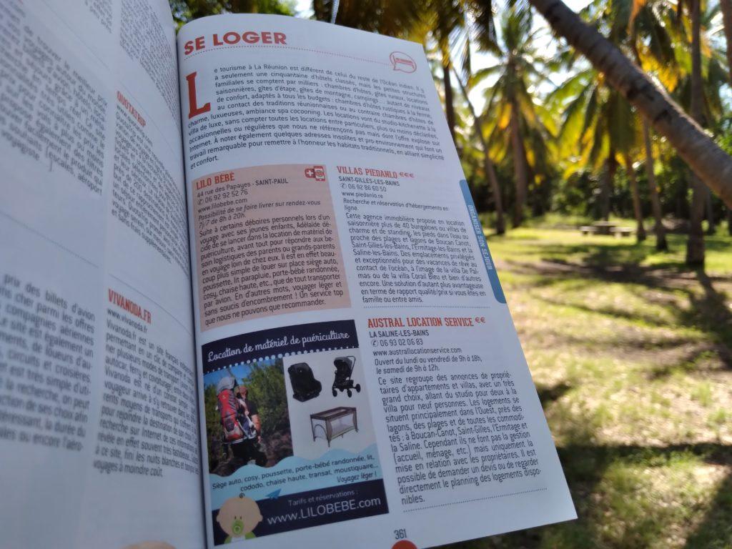 Lilo Bébé est paru dans le Petit Futé Edition 2021 de la Réunion